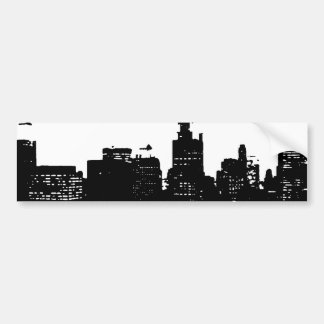 Pop Art Black & White New York Car Bumper Sticker