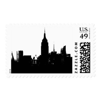 Pop Art Black & White New York City Stamp