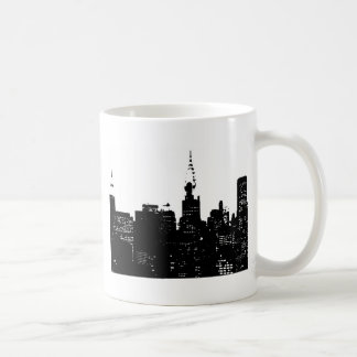 Pop Art Black & White New York Coffee Mug