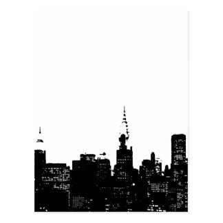 Pop Art Black & White New York Postcard