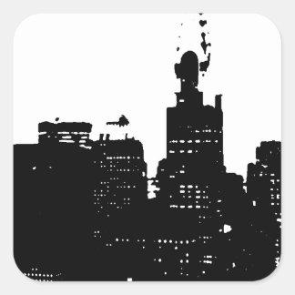 Pop Art Black & White New York Stickers