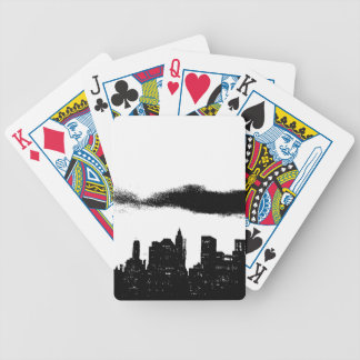 Pop Art Black White NYC New York City Bicycle Playing Cards