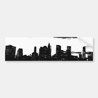 Pop Art Black White NYC New York City Bumper Sticker