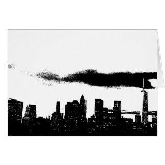 Pop Art Black White NYC New York City Card