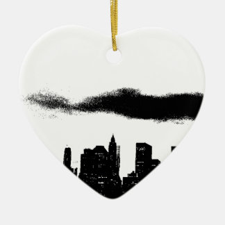 Pop Art Black White NYC New York City Ceramic Ornament
