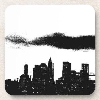 Pop Art Black White NYC New York City Coaster