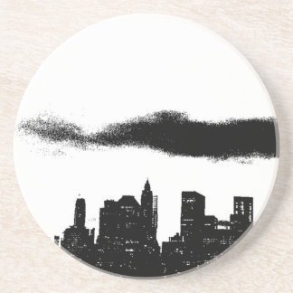 Pop Art Black White NYC New York City Drink Coasters