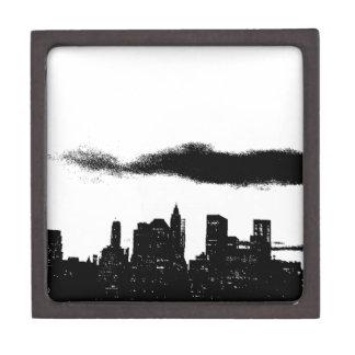 Pop Art Black White NYC New York City Jewelry Box