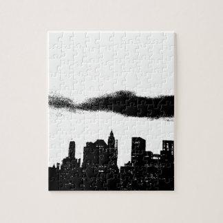 Pop Art Black White NYC New York City Jigsaw Puzzle
