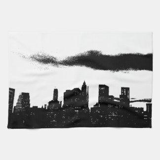 Pop Art Black White NYC New York City Kitchen Towel