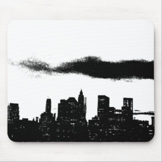 Pop Art Black White NYC New York City Mouse Pad