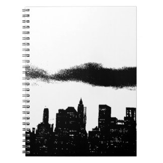 Pop Art Black White NYC New York City Notebook