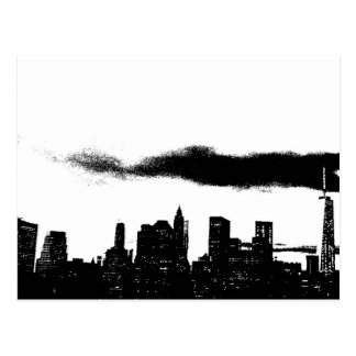 Pop Art Black White NYC New York City Postcard