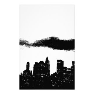 Pop Art Black White NYC New York City Stationery