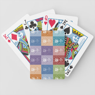 Pop Art Blocked Golly Bicycle Poker Cards