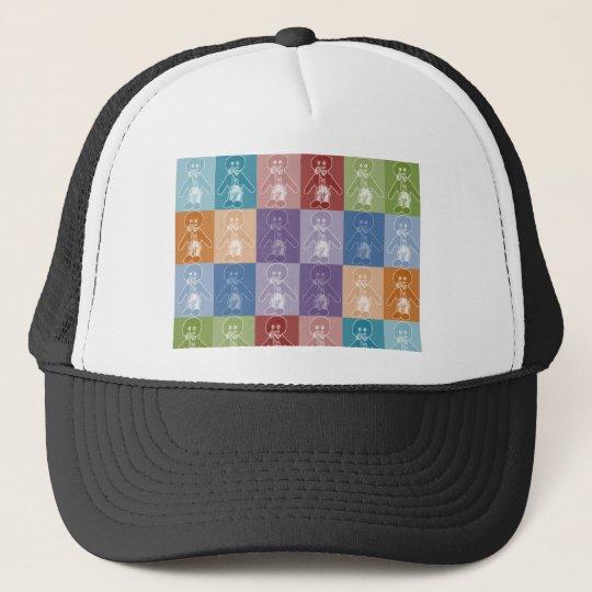 Pop Art Blocked Golly Trucker Hat