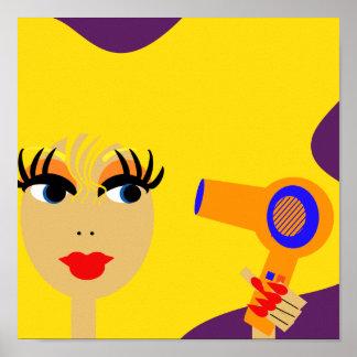 Pop Art Blonde Female Print
