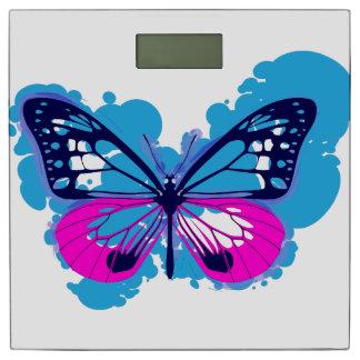 Pop Art Blue Butterfly Bathroom Scales