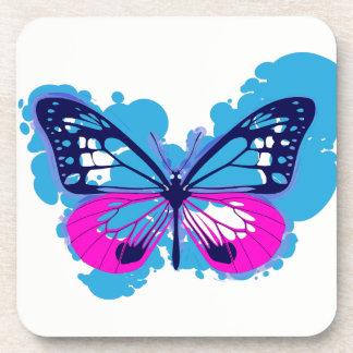 Pop Art Blue Butterfly Coasters