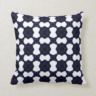 pop art blue glass throw pillow