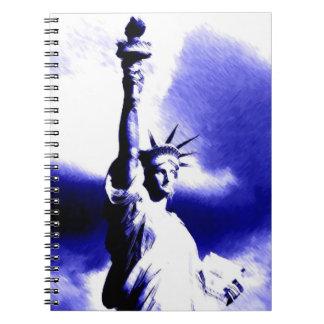 Pop Art Blue New York - Lady Liberty Notebook