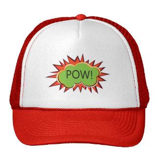Pop art boom explosion typography trucker hat