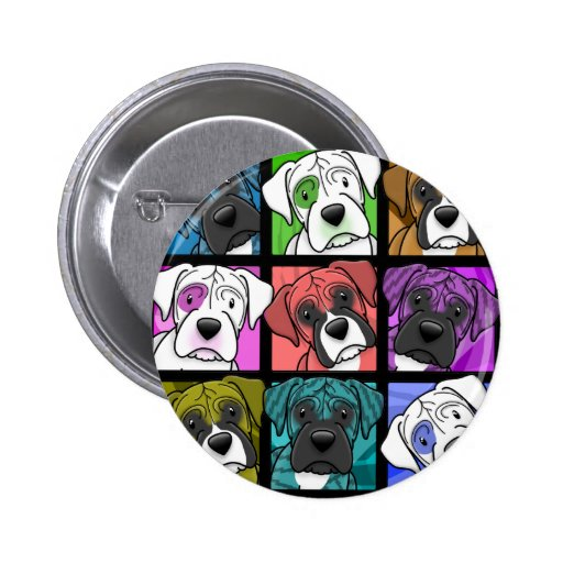 Pop Art Boxer 2 Inch Round Button
