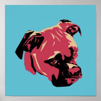 Pop Art  Boxer Dog Poster