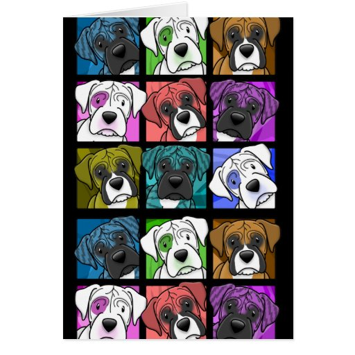 Pop Art Boxer Greeting Cards