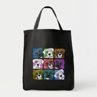Pop Art Boxer Grocery Tote Bag