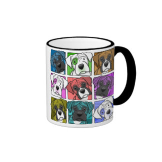 Pop Art Boxer Ringer Coffee Mug