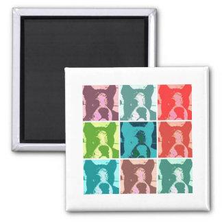 Pop Art Boxers 2 Inch Square Magnet