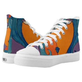 Pop Art Bright Dame Modern Lace Up Shoes Printed Shoes