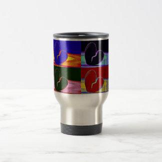 Pop Art Broken Heart Travel Mug