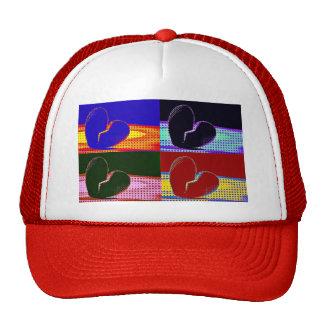 Pop Art Broken Heart Trucker Hat