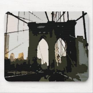 Pop Art Brooklyn Bridge Mouse Pad