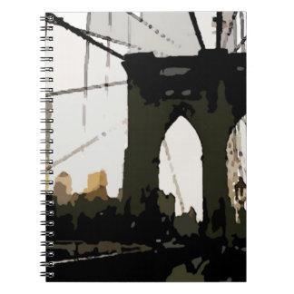 Pop Art Brooklyn Bridge Spiral Notebook