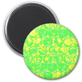 Pop art bubble wrap 2 inch round magnet