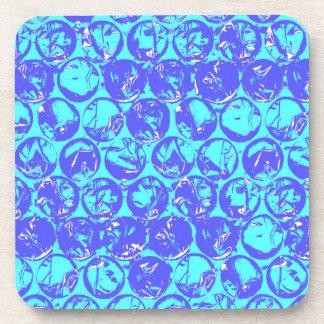 Pop art bubble wrap coaster