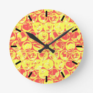 Pop art bubble wrap round clock