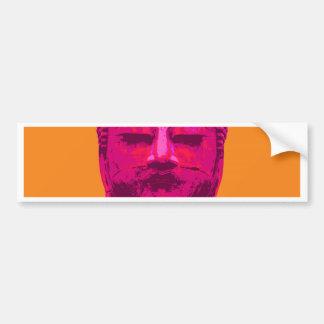 Pop Art Buddha Pink and Orange Bumper Sticker