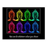 Pop art buddha post card