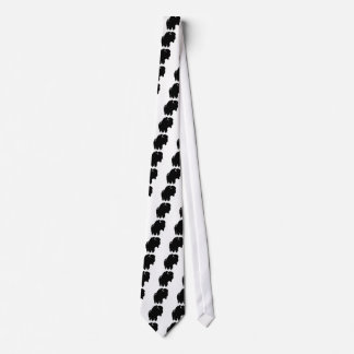 Pop Art Buffalo Bison Silhouette Neck Tie