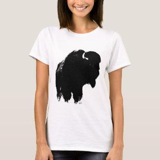 Pop Art Buffalo Bison Silhouette T-Shirt
