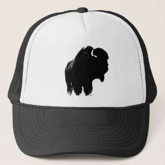 Pop Art Buffalo Bison Silhouette Trucker Hat