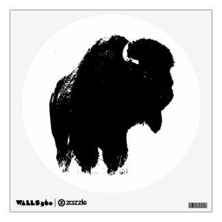 Pop Art Buffalo Bison Silhouette Wall Decal