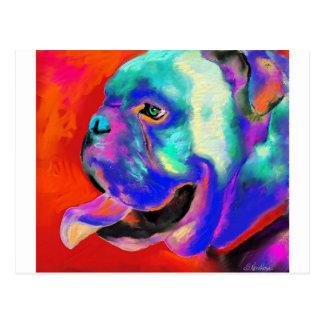 Pop Art Bulldog portrait Postcard