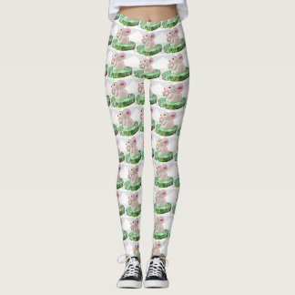 Pop Art Bunny Cake Leggings