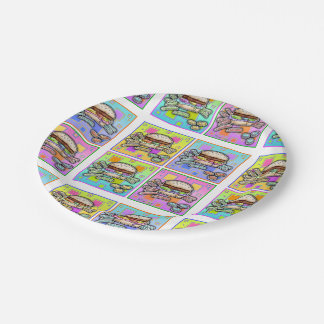 POP ART BURGER PAPER PLATE
