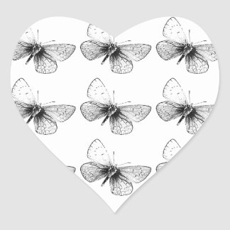Pop Art Butterfly Heart Sticker